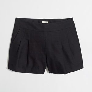 J Crew Cotton & Linen Pleated Shorts